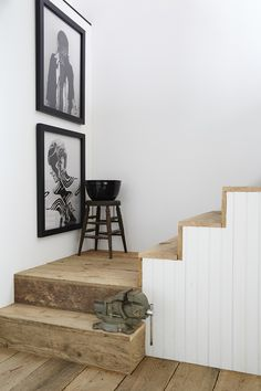 rustic, modern stair.  Nicole Franzen Photography