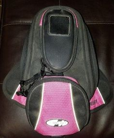 Joe Rocket Manta Hot Pink and Black Magnetic Tank Bag