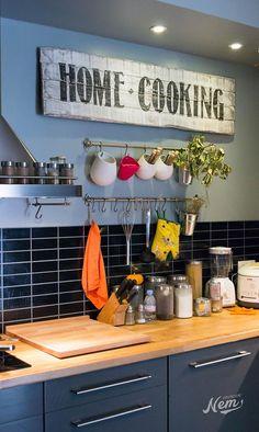 nice Idée relooking cuisine - Enseigne vintage fait-main pour ma cuisine - NemGraphisme