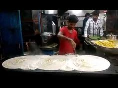 Dosa Making record breaking big South Indian food. Street foods video - YouTube