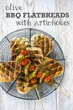 Olive BBQ Fladenbrot mit Artischocken