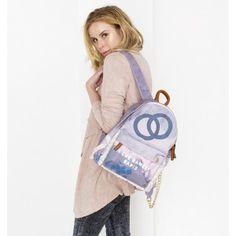 roze lila chanel look a like backpack rugtas