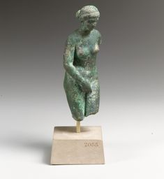 Statuette of Aphrodite by Praxiteles, Greek and Roman Art Medium: Bronze Rogers Fund, 1911 Metropolitan Museum of Art, New York, NY http://www.metmuseum.org/art/collection/search/248496