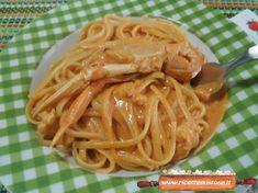 Pasta Scampi, Fish Recipes, Healthy Recipes, Gnocchi, Main Meals, Paella, Love Food, Spaghetti, Italian Recipes
