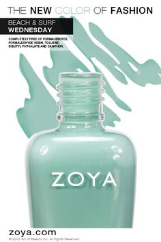 Zoya Nail Polish in Wednesday from the Beach Collection http://www.zoya.com/content/38/item/Zoya/Zoya-Nail-Polish-Wednesday-ZP619.html?O=PN120521MN00140