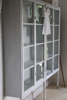 Shelves With Doors Repurposed Furniture, Painted Furniture, Diy Furniture, Furniture Refinishing, Old Windows, Interior Decorating, Interior Design, Shabby Chic Cottage, Country Decor