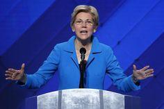 Senator Elizabeth Warren spoke at the Democratic National Convention in Philadelphia.