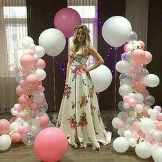 Vestido floreado novia