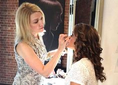 Giella Cosmetics working their magic for a bride at Salon SCK
