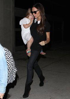 Victoria Beckham Photos: Victoria Beckham and Her Kids at LAX