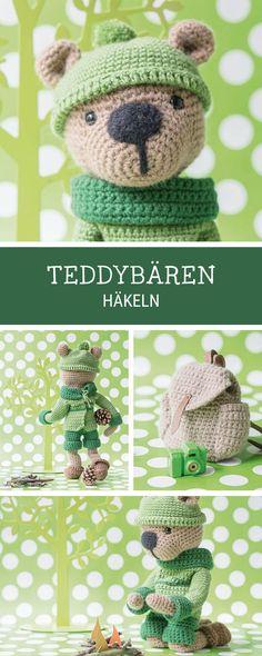 Häkelanleitung: Teddybär häkeln für Kinder, DIY Geschenk zur Geburt / crochet pattern for a teddybear, handmade birthday gift via DaWanda.com