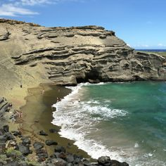 Papakolea (Green Sand Beach), Hawaii, Hawaii: Nestled near the southernmost point on the Big Island (and the southernmost point in the United States), this beach has deep green sand courtesy of the olivine, a mineral that was deposited on the shores by a nearby volcanic cone. Coastalliving.com