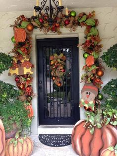 Fall door garland