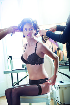 ac1d225fcf7be Simone Perele Amour Push-up w  Racerback and Tanga in Anthracite French  Lingerie