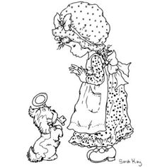 sarah kay coloring pages Holly Hobbie, Coloring Book Pages, Coloring Sheets, 4 Image, Sara Kay, Illustration, Digi Stamps, Colorful Pictures, Peta