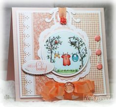 Card by Cindy Lawrence for Flourishes. Stamp set is Flourishes call Hello Baby.