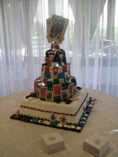 Poker face?! specialty cake by Frosted Art Bakery