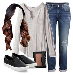 """""""Emily Fields inspired outfit with a henley top"""" by liarsstyle ❤ liked on Polyvore featuring H&M, LAmade and NARS Cosmetics"""