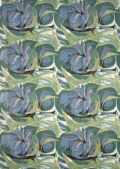 Cotton Printed Panel. Design: Barbara Brown for Heals 1955
