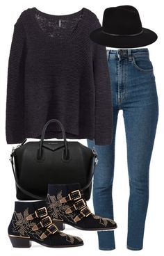 """Untitled #13323"" by florencia95 ❤ liked on Polyvore featuring Yves Saint Laurent, H&M, Givenchy, Chloé and Janessa Leone"