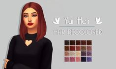 Just a simple simblr. - Yui Hair | by @kotcatmeow The original mesh is...