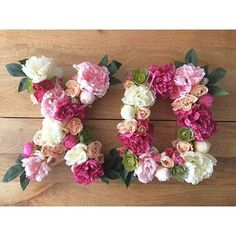 We can't think of a better way to decorate a bridal shower. Love these floral letters designed by @carbonandink#diywedding
