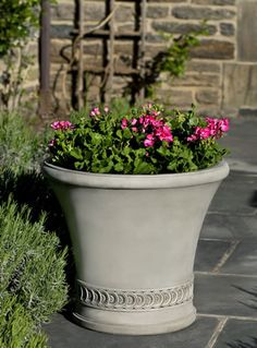 Vallier cast stone Planter made by Campania International