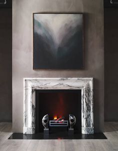 The latest trends in fireplace mantels include designs digitally modeled in 3-D and highly customized hunks of marble; a pattern that mimics a python's skin.