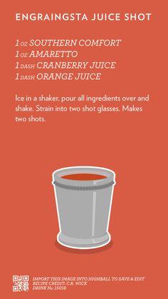 Engraingsta Juice Shot, created with Highball.
