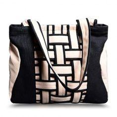 Casual Weaving and Color Block Design Women's Shoulder Bag