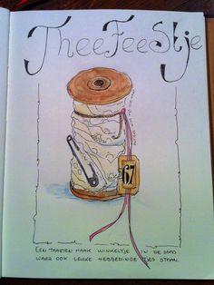 Quick sketch of an old lace spool.  Made by MoP