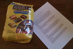 This is a fun activity for kid and adult groups.  The Chocolate Personality Test