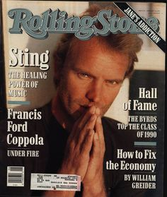 Vintage Magazine  Rolling Stone Magazine  STING by annswhimsey, $12.00