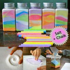Salt and chalk fun
