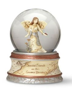 Angel musical water globe for friends.