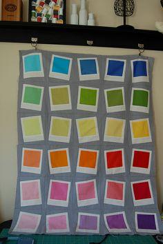 Kona Solids Challenge... Polaroids
