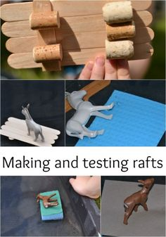 Making and testing rafts to help the 3 billy goats gruff Preschool Science, Science Experiments Kids, Science For Kids, Preschool Ideas, Steam Activities, Science Activities, Activities For Kids, Science Ideas, Traditional Stories
