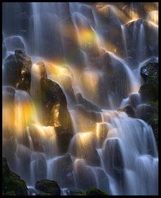 Rainbow Falls by Marc Adamus - repinned by www.earthangel-family.de