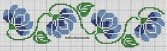 This Pin was discovered by Şer Cross Stitch Art, Cross Stitch Borders, Cross Stitch Flowers, Cross Stitch Designs, Cross Stitching, Cross Stitch Embroidery, Cross Stitch Patterns, Embroidery Patterns, Flowering Vines