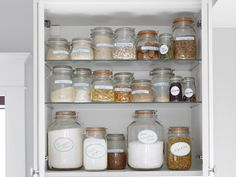 Sarah Richardson's Kitchen Design Recipes : Rooms : Home & Garden Television, invest in airtight containers for your baking ingredients and label each container, looks neat and fresh longer!