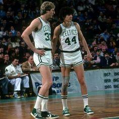 Larry Bird and Pistol Pete Maravich Celtics Basketball, Basketball Legends, Basketball Uniforms, Sports Basketball, Basketball Players, Basketball Shoes, Basketball Court, Larry Bird, Celtic Pride