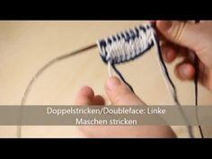 Doubleface stricken - verständlich erklärt - Rechte Maschen stricken - YouTube