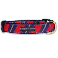 Preppy Red Necktie - Dog Collar