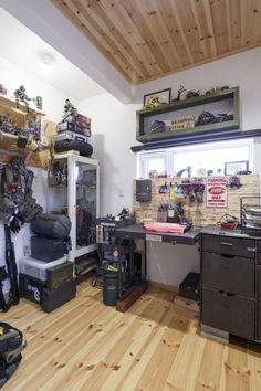 【アイジースタイルハウス】趣味部屋。ご主人の書斎は「ザ・男の世界」!