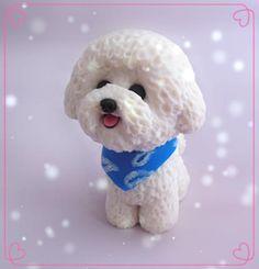 DIY-Customized-Polymer-Clay-Bichon-Frise-Dog-Figurine-6CM-Wedding-Cake-Decoration-Personalized-Gift-Free-Shipping.jpg (385×400)