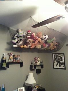 doing this with our stuffed babies!! Stuffed animal storage
