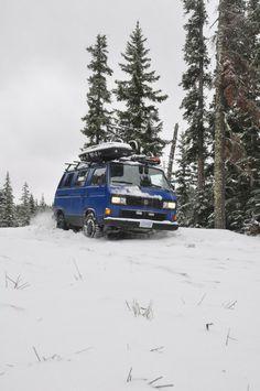 VW Camper van snow