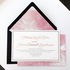 by RedBliss Design All Things, Stationary, Oriental, Marriage, Invitations, Rose, Design, Valentines Day Weddings, Pink