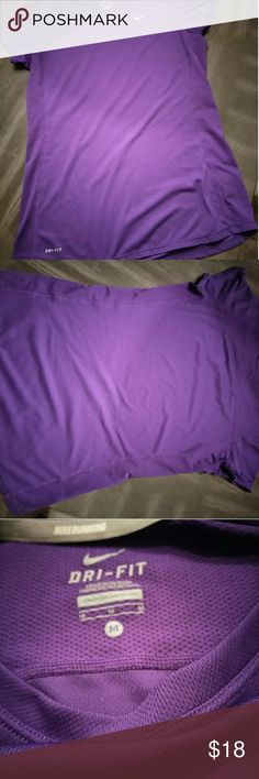 Nike dry fit Purple nike dry fit running shirt Nike Tops