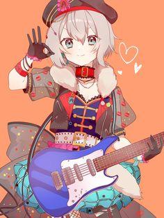 Anime Chibi, Kawaii Anime, Anime Art, Cute Girl Illustration, Guitar Drawing, Dream Anime, Dream Party, Chibi Girl, Moca